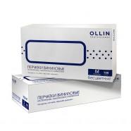 Перчатки виниловые неопудренные бесцветные Ollin Professional