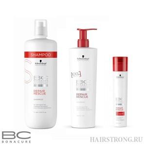 Шампунь для восстановления волос Bonacure Repair Rescue