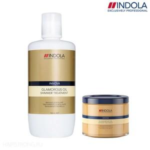Маска для блеска волос Indola Glamorous Oil