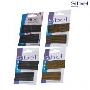 Невидимки для волос фигурные и прямые Sibel 50 мм и 70 мм