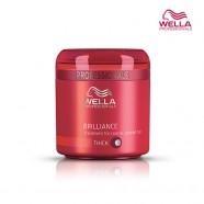 Крем-маска Wella Brilliance для окрашенных жестких волос