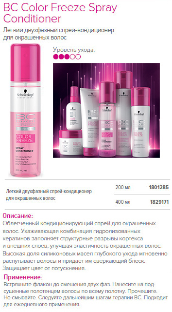 Спрей-кондиционер для окрашенных волос – Schwarzkopf Bonacure