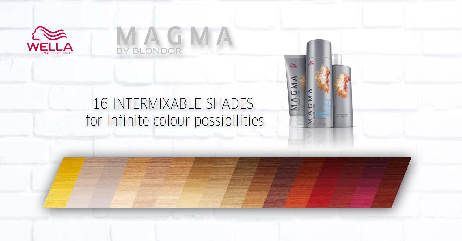палитра краски Magma